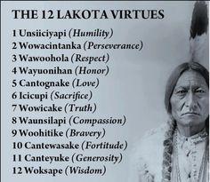 The 12 Lakota Virtues