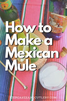 How to make a Mexican Mule cocktail. If you love Moscow Mules, you'll love this recipe using tequila! Mexican Mule Recipe, Moscow Mule Variations, Cocktail Recipes, Cocktails, Cocktail Cupcakes, Ginger Beer, Strawberry Recipes, Vegan Recipes Easy, Summer Drinks