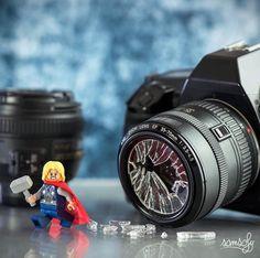 """Thor don't like photo"" Photo and caption by @samsofy.s #legophotography #sweet…"
