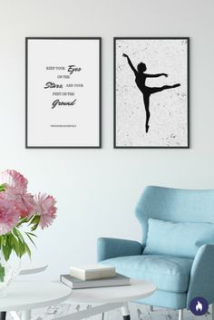 Mix and match. That's what you got to do to showcase your personality and perhaps remind you to chase your dreams. Beautiful quote from Inspiriko collection on the left and Ballerina print on the right. All prints available in different sizes.