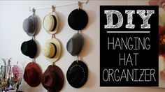 Another decorative idea for hat storage.