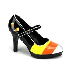 Amazon.com: 4 Inch Heel Sexy Candy Corn Halloween Costume Shoe Accessory Womens Shoes Black Size: 8: Shoes