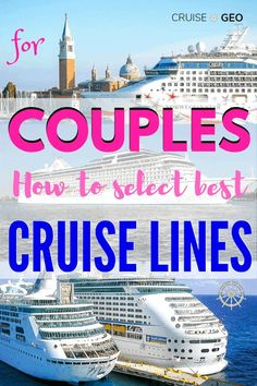 Each cruise lines has unique service and entertainment facilities. Find out the best cruise lines for couples and make your cruise vacation unforgettable. Cruise Excursions, Cruise Port, Cruise Tips, Cruise Travel, Cruise Vacation, Italy Vacation, Dream Vacations, Top Cruise Lines, Luxury Cruise Lines