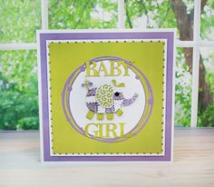 How to Make an Elephant  Baby Girl Card #TatteredLace #StephanieWeightman #Papercraft #DieCutting