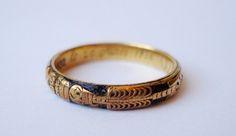 Old skeleton mourning ring
