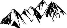 mountain outline graphic - Google Search Mountain Outline, Mountain Clipart, Mountain Landscape, Line Drawing, Online Art, Skyline, Hair Accessories, Clip Art, Mountains