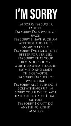 I'm sorry i'm BORN!!! Dark Quotes, Depression Quotes, Word Porn, Deep Thoughts, True Quotes, Quotations, It Hurts, Inspirational Quotes, Feelings