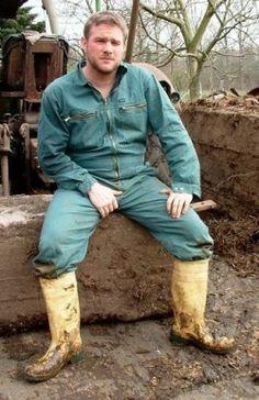 Hard Working Man, Working Men, Scruffy Men, Farm Boys, Muck Boots, Country Men, Men In Uniform, Bear Men, Wellington Boot