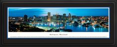 Baltimore, Maryland City Skyline Panoramic Pictures & Posters