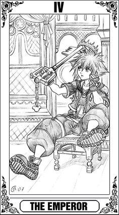 KH Tarot: The Emperor by Autumn-Sacura.deviantart.com on @DeviantArt