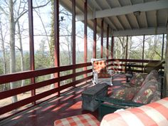 Take a load off on the back deck.