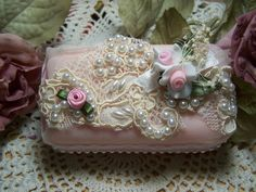 Victorian lace soap - Victorian romantic soap - Provence embellished soap - Rose…