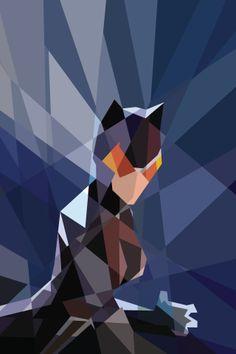 Fondo de pantalla de Catwoman, por Kate Jones. No meu móbil Android.