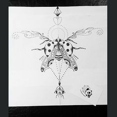 Uncolored_ladybug_with_printed_wings_on_geometric_drawing_background_tattoo_design.jpg (480×480)