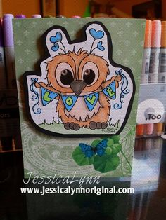 Happy Valentine's Day: I Love You Clear Stamp Set  (http://www.jessicalynnoriginal.com/happy-valentines-day-i-love-you-clear-stamp-set-featuring-brentwood-owl/) Featuring Brentwood Owl© - JessicaLynnOriginal #order your set today!! #JessicaLynnOriginal #RubberStamp #SmallBusiness #ILOVEYOU #Valentinesday #DIYValentines #TrueLove