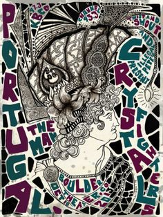 PORTUGAL. THE MAN POSTER BY DARREN GREALISH