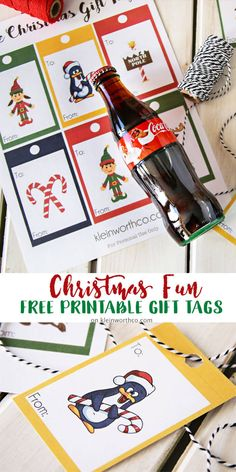 Coca-Cola Christmas Gift Idea + Printable Gift Tags to say thank you to those that are Making Extra Efforts every day! They'll love it! via @KleinworthCo