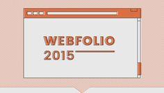 Webfolio 2015 on Behance Icon Design, Design Art, Web Design, Graphic Design, Editorial Design, Portfolio Design, Landing, Behance, Letters