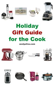 Here's my Holiday Gift Guide for the Cook or Chef in your life. Any one of these gifts would be sure to please that special person. Choosing gifts for that special person who lives in the kitchen and loves to cook shouldn't be challenging, but yet, sometimes it is. I'm here to help! #giftsforher #cook #chef #kitchen #recipes