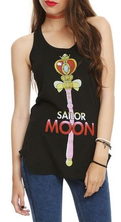 New official Sailor Moon Spiral Moon Heart Rod Tank Top! Images and shopping links here http://www.moonkitty.net/buy-new-sailor-moon-tshirts.php