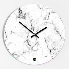 Design Wand Uhr In Weisser Marmor Optik Wohnzimmer, Schlafzimmer Ideen,  Badezimmer, Dekoration,
