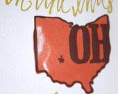 Ohio Letterpress Print Limited Edition