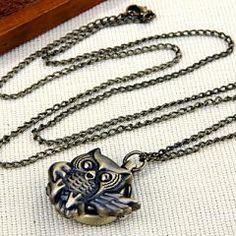 Owl Metal Necklace Pendant
