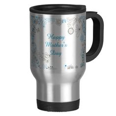 Happy Mother's Day Day Blue Flowers Coffee Mug