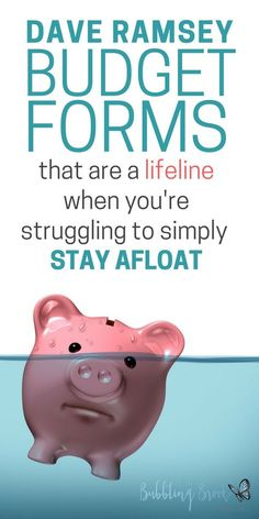 Dave Ramsey Budget Forms that are a Lifeline When You're Struggling to Stay Afloat – Finance tips, saving money, budgeting planner Budget Binder, Monthly Budget, Monthly Expenses, Budget Book, Monthly Planner, Budgeting Finances, Budgeting Tips, Dave Ramsey Budget Forms, Dave Ramsey Budget Spreadsheet