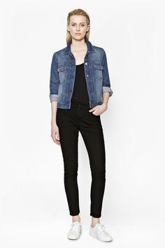 2016 Kot Ceket Modelleri ve Kombinleri Beautiful-Denim-Jacket-Women-Models