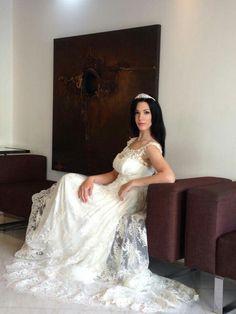 Bridal lace dress