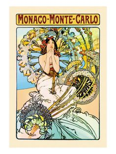 Monaco, Monte Carlo Vinilos decorativos por Alphonse Mucha en AllPosters.es