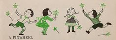 """Pinwheel    From """"The Big Book of Things to Do and Make"""".  A fun book to look at with cute illustration"""