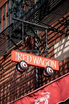 The Red Wagon on Beacon Hill Adorable store sign!
