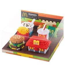 McDonald's Food Icons x Nanoblock (Hong Kong) #mcdonalds #foodicons #nanoblock #happymeals #awesome #fries #burger #applepie #sundae #hongkong #hk #cool #instacool #drink #fastfood