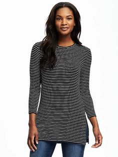Long & Lean Rib-Knit Tunic for Women