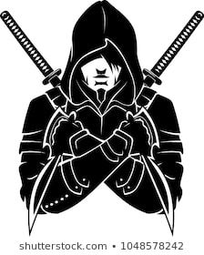 Hooded Armed and Dangerous Arte Ninja, Ninja Art, Samurai Tattoo, Samurai Art, Assassin Logo, Logo Esport, Facebook Featured Photos, Warrior Drawing, Team Logo Design
