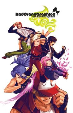 King of Fighters Poster by soaro on DeviantArt Art Of Fighting, Fighting Games, Terry Bogard Fatal Fury, Snk Games, Snk King Of Fighters, Samurai, Character Art, Character Design, Kings Game