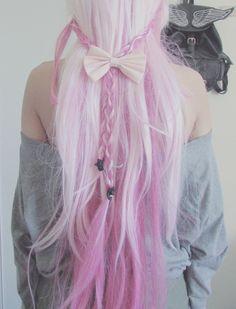 candy floss pink hair