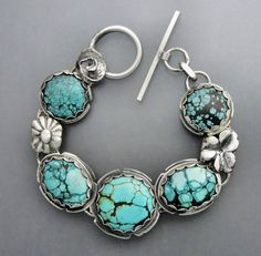 Turquoise with Flowers by Temi on Etsy