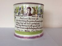 Antique Sunderland Lustre mug with political interest honest Mathew bell Antique Pottery, Sunderland, Luster, Shot Glass, Mugs, Antiques, Tableware, Dinnerware, Cups