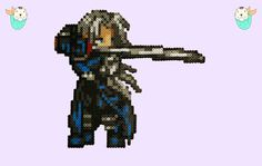 Final Fantasy Sephiroth Perler Magnet by MerkittenCrafts on Etsy