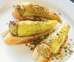 At the Table / Buffalo's stuffed peppers, new and old - Buffalo Spree - March 2016 - Buffalo, NY Recipes With Banana Peppers, Sweet Banana Peppers, Hot Pepper Recipes, Stuffed Banana Peppers, Stuffed Sweet Peppers, Finger Food Appetizers, Appetizer Recipes, Italian Appetizers, Hungarian Stuffed Peppers