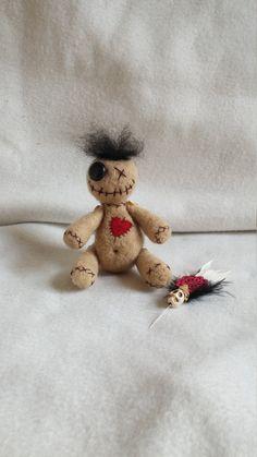 VooDoo Doll Handmade voo doo doll Needle by WildWhimsicalNature