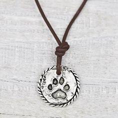 Dog Paw Necklace  #necklace #jewelry #cowgirljewelry #bohojewelry #bohemianjewelry #gypsyjewelry #bohostyle #cowgirlstyle #westernstyle #gypsystyle #bohochic  http://www.islandcowgirl.com/
