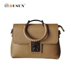 34e1c2af65 DUSUN 2017 New Women Bag Famous Brands Design Handbag Luxury Simple Women  Messenger Bags Casual Shoulder