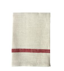 Linen Dish Towel - Red Stripe