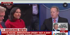 "Sean Spicer vs. NBC's Kristen Welker: Sorry That ""NBC's Reporting ..."
