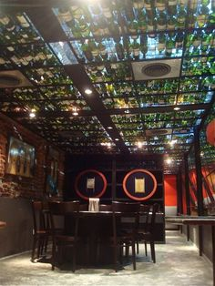 5,000 Wine Bottles Recycled Into Acoustics-Improving Ceiling At Buenos Aires Restaurant : TreeHugger