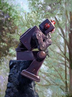 """""""The Collator"""" by Eric Joyner, San Francisco // Will robots ever be able to think like us? Is artificial intelligence just a fantasy? // Imagekind.com -- Buy stunning fine art prints, framed prints and canvas prints directly from independent working artists and photographers."""